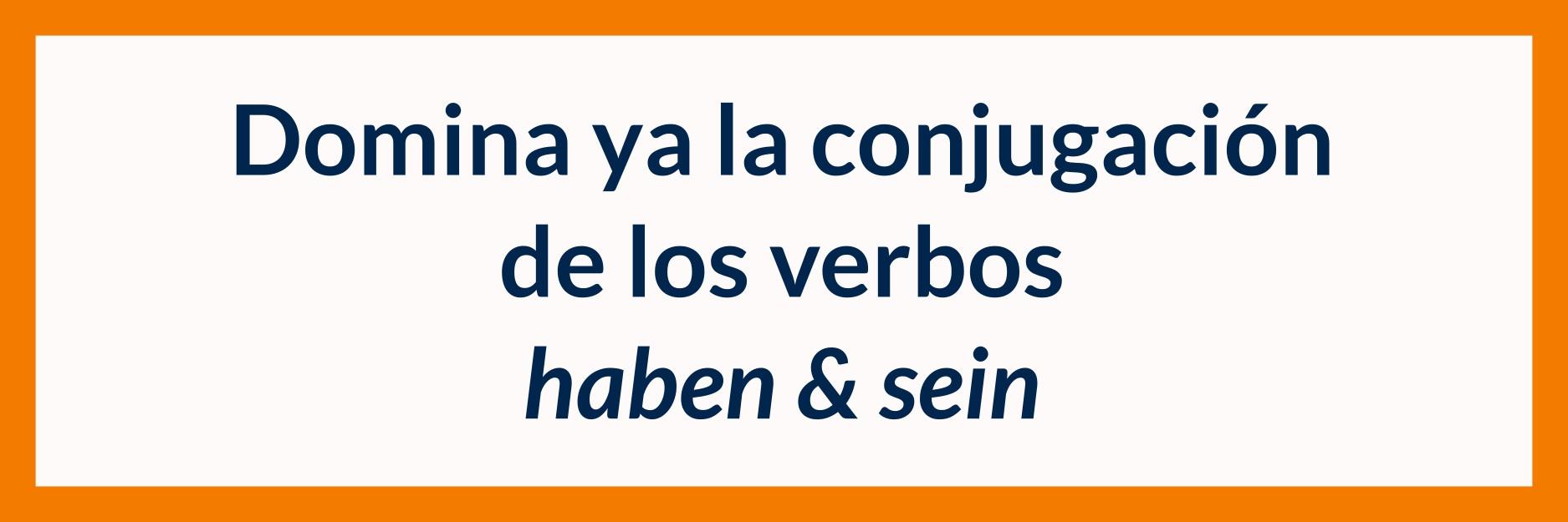 Imagen de título para aprender la conjugación de los verbos haben y sein en alemań